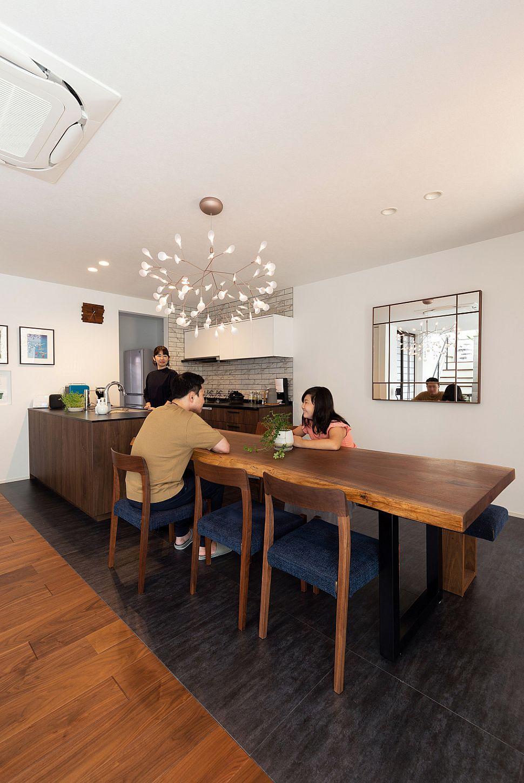 【ダイニング・キッチン】 キッチンとダイニングを横並びで配置することで、調理中でも家族の距離が縮まり、自然とコミュニケーションが深まります。