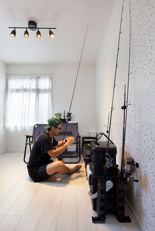 【洋室】 将来の子供部屋をしばらくの間、ご主人様の趣味部屋としています。